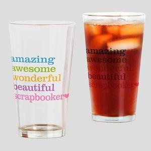 Scrapbooker Drinking Glass