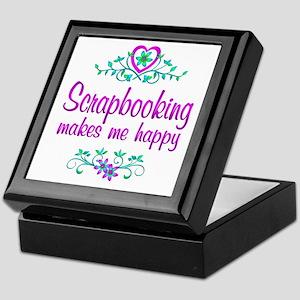Scrapbooking Happy Keepsake Box