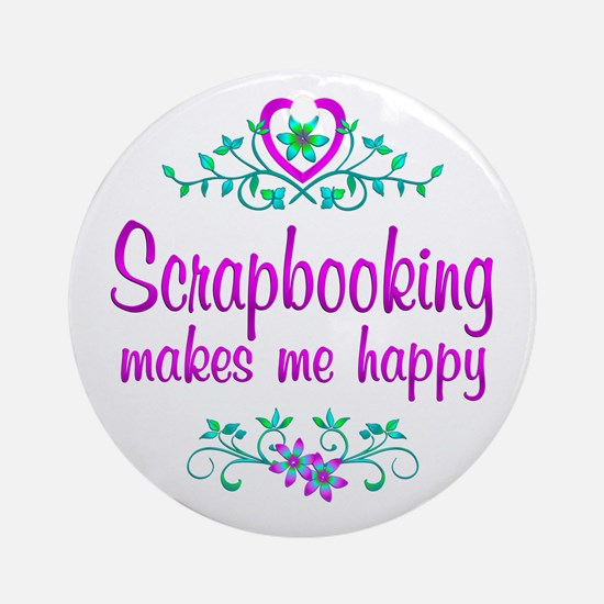 Scrapbooking Happy Ornament (Round)