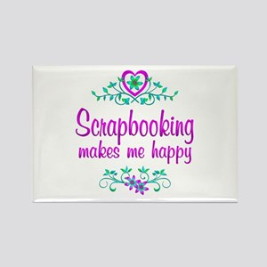 Scrapbooking Happy Rectangle Magnet