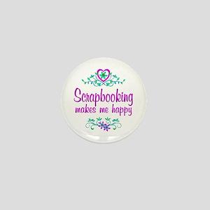 Scrapbooking Happy Mini Button