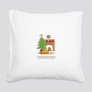 Santa Paws Square Canvas Pillow