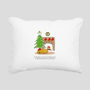 Santa Paws Rectangular Canvas Pillow