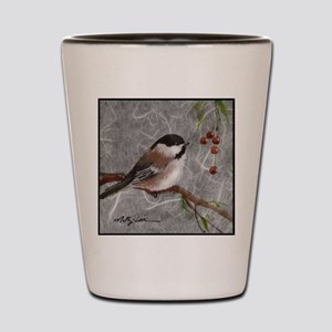 chickadee Shot Glass