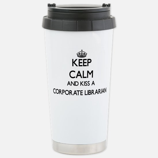 Keep calm and kiss a Co Stainless Steel Travel Mug