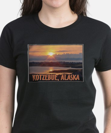 Kotzebue Sunset Women's Dark T-Shirt
