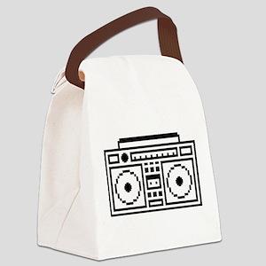 Pixelated Ghettoblaster Canvas Lunch Bag