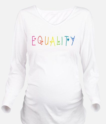 Equality Long Sleeve Maternity T-Shirt