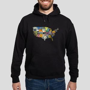 america license Hoodie (dark)