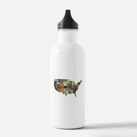 america license Water Bottle