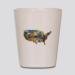 america license Shot Glass