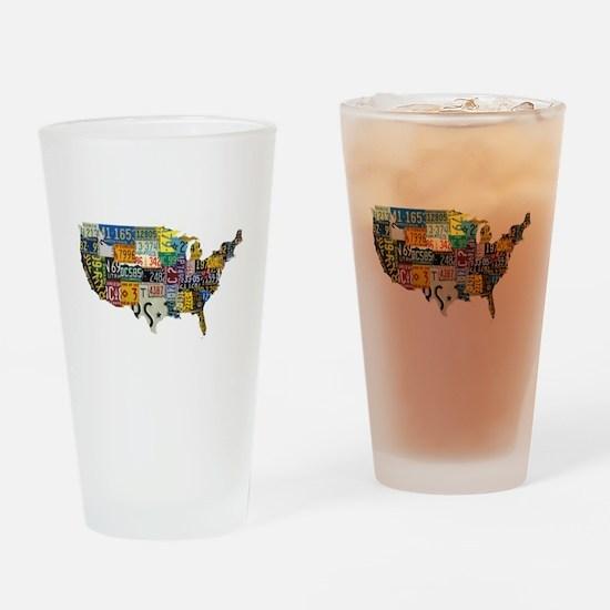 america license Drinking Glass