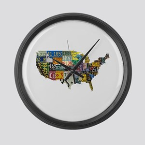 america license Large Wall Clock