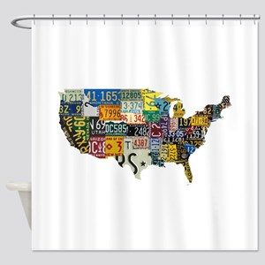 America License Shower Curtain