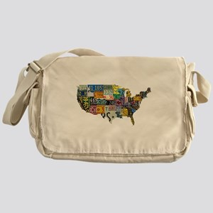 america license Messenger Bag