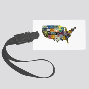america license Large Luggage Tag