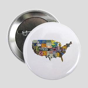 """america license 2.25"""" Button"""
