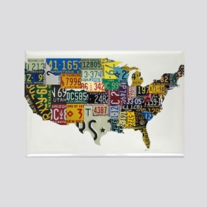 america license Rectangle Magnet
