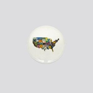 america license Mini Button
