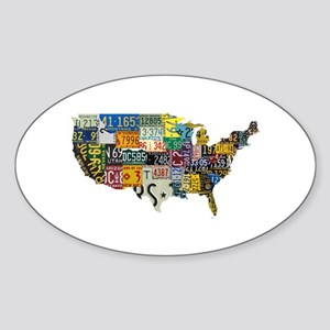 america license Sticker (Oval)