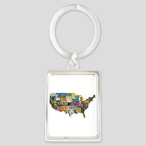 america license Portrait Keychain