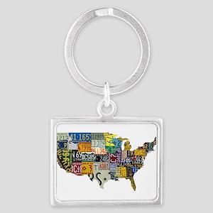 america license Landscape Keychain