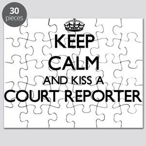 Keep calm and kiss a Court Reporter Puzzle