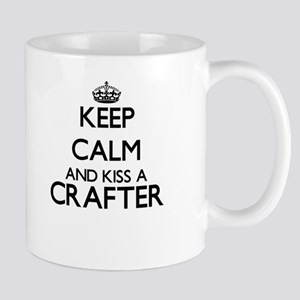 Keep calm and kiss a Crafter Mugs