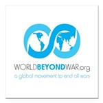 World Beyond War Square Car Magnet 3
