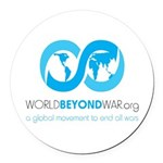 World Beyond War Round Car Magnet