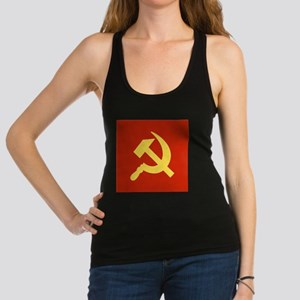 Red Hammer & Sickle Racerback Tank Top