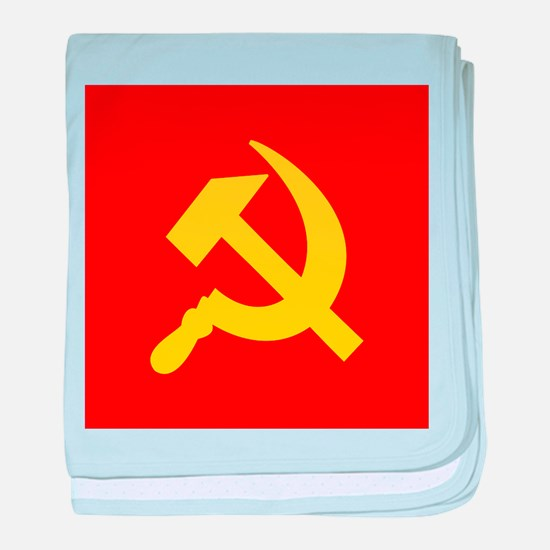Red Hammer & Sickle baby blanket