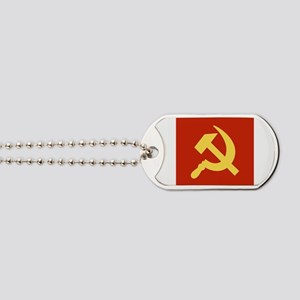 Red Hammer & Sickle Dog Tags