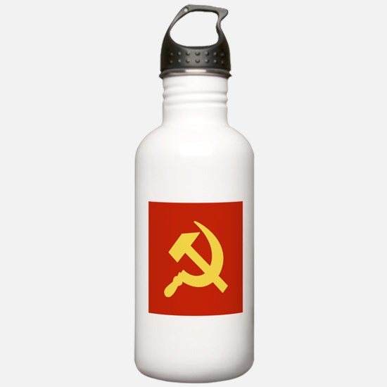 Red Hammer & Sickle Water Bottle