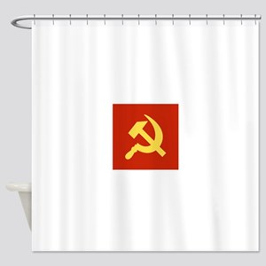 Red Hammer & Sickle Shower Curtain