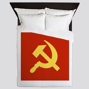Red Hammer & Sickle Queen Duvet