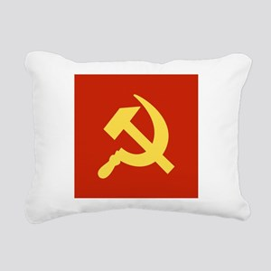 Red Hammer & Sickle Rectangular Canvas Pillow