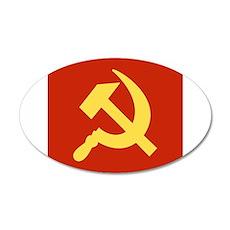 Red Hammer & Sickle Wall Sticker