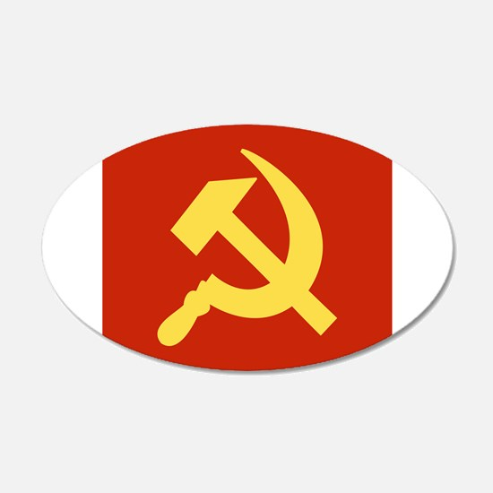Red Hammer & Sickle Wall Decal
