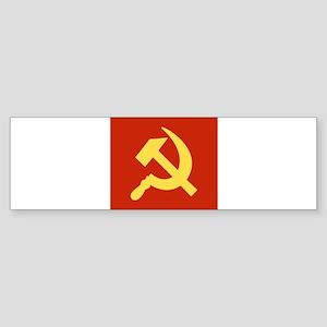 Red Hammer & Sickle Sticker (Bumper)