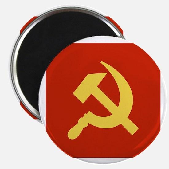 "Red Hammer & Sickle 2.25"" Magnet (10 pack)"
