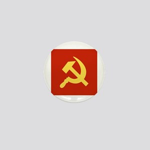 Red Hammer & Sickle Mini Button