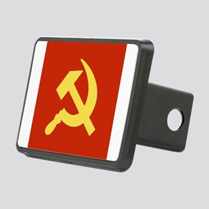 Red Hammer & Sickle Rectangular Hitch Cover