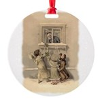 Gifting A Friend Round Ornament