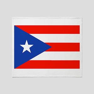 Boricua Bandera Puerto Rican Orgullo Throw Blanket
