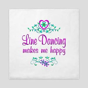 Line Dancing Happy Queen Duvet