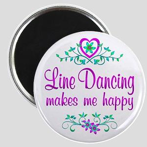 Line Dancing Happy Magnet