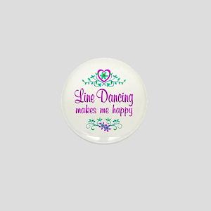 Line Dancing Happy Mini Button