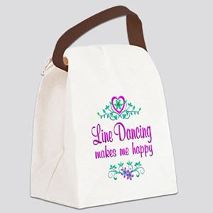 Line Dancing Happy Canvas Lunch Bag
