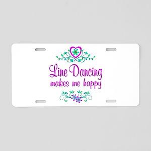 Line Dancing Happy Aluminum License Plate